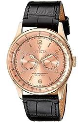 Invicta Men's 6752 Vintage Rose Dial Black Leather Watch
