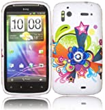 Printed Gel Shell Case Cover For HTC Sensation G14 / Shooting Star Design