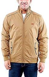 Time Option Men's Cotton Jacket (5014_Khakhi_44)