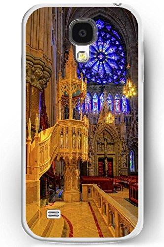 Sprawl Luxury Samsung Galaxy S4 Hard Case Ultra Slim Fit Religious Worshipper Shrine Design -- Brilliant Church