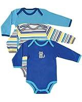 Luvable Friends Unisex-Baby Long Sleeve Bodysuits (3 Pack)