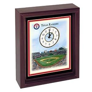 Texas Rangers Ameriquest Field Stadium Colorprint Desk Clock by Unknown