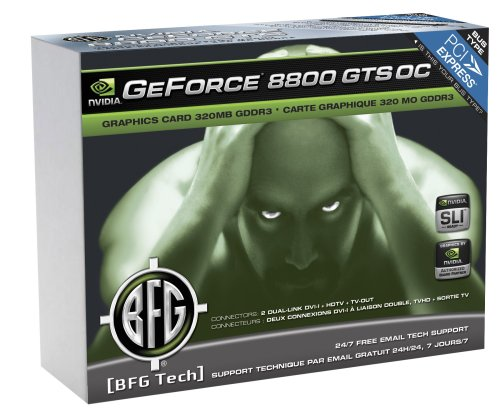 BFG Tech® GeForce ® 8800 GTS OC¿ 320MBPCI Express Graphics Card Intl