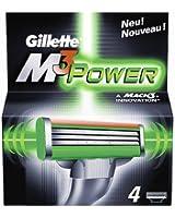 Gillette Lot de 4 lames de rasoir M3 Power