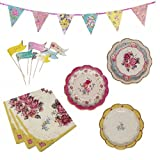Truly Scrumptious Party Plates Napkins Canape Flags & Party Bunting