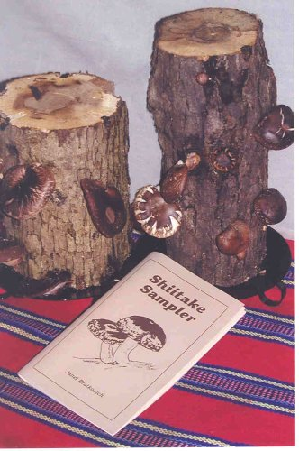Ma & Pa Shiitake Mushroom Log Kit with Shiitake Sampler Cookbook