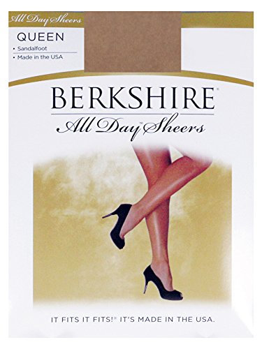 Berkshire Queen All Day Sheer Non-Control Top Pantyhose - Sandalfoot, City Beige, 3X-4X (Non Control Top Pantyhose compare prices)