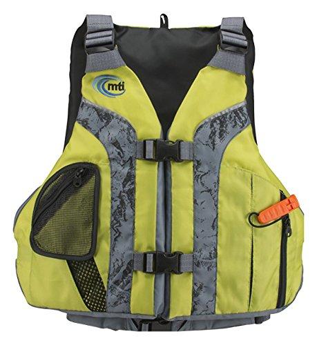 Mti adventurewear solaris life jacket olive oil gray for Best life jacket for kayak fishing