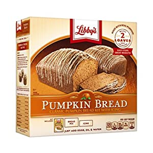 Libbys All Natural 2 Loaf Pumpkin Bread Kit With Icing Thanksgiving Holiday Gift Box