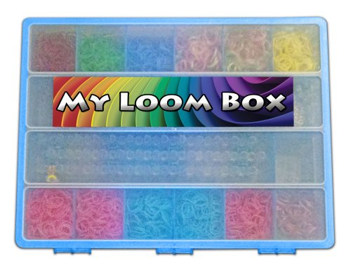 Rainbow Loom Organizer - Perfect Rainbow Loom Storage Box - Fits Thousands Of Rubber Bands And Accessories - Designed To Fit Rainbow Loom Tools - Sturdy Case And Carrying Handle