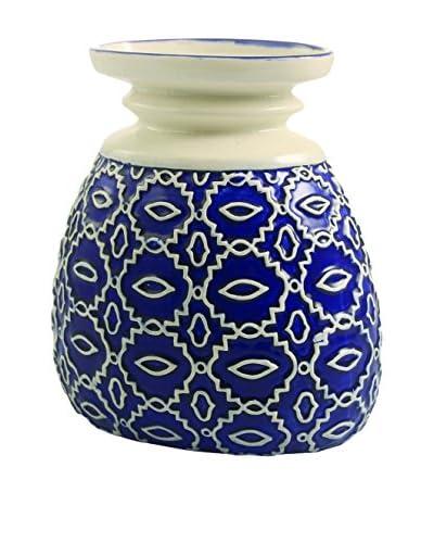 Galileo Deco vaas wit / blauw