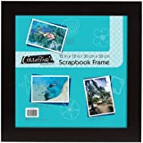 MCS Flat 12x12 Scrapbook Frame in Black, Overall Size 15x15 (40952)