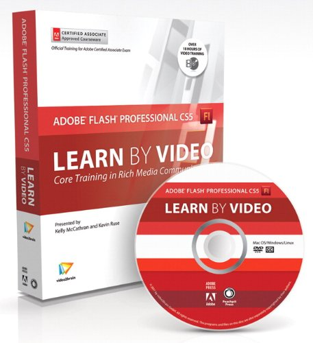 Learn Adobe Flash Professional CS5 by Video 0321719824 pdf