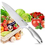 ORBLUE 8 Inch Kitchen Chef's Knife, Professional, Ultra-Sharp, High Carbon Stainless Steel, No-Slip Erganomic Handle