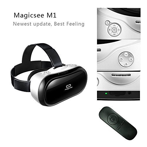 DGAGA Magicsee M1 3D VR All-in-one ,VR One Virtual Reality Headset VR Glasses Game Video Android 4.4 2G/16G HDMI 1080P HD 360 Viewing Immersive ,Wifi 2.4G Bluetooth with TF Card with BT controller