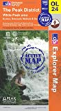 The Peak District: White Peak Area (OS Explorer Active Map OL24)