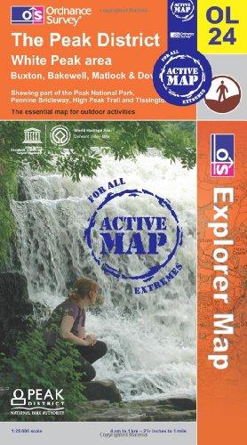 The Peak District - White Peak Area (OS Explorer Map Active)