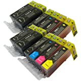12 CiberDirect Compatible Ink Cartridges for use with Canon Pixma MG5250 Printers.