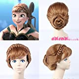 NEW ARRIVAL!!! LIMITED SALE!!!Princess Anna wiig Braid Coronation Curly Brown Hair Full wiigs Disney Frozen Snow