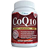CoQ10 Ubiquinol (High Absorption) the FIRST HYDROSOLUBLE (Water Soluble) Coenzyme Q10 Best Cardiovascular & Heart Health Antioxidant Support Supplement Plus Increased Energy 100mg