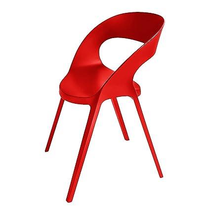 RESOL sedie CARLA impilabile sho1032011-Set di 4 sedie ROJO 1032 BOB