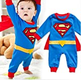 3-24m Baby Boys Toddler Superhero Detachable Cape Superman Costume