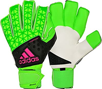 adidas ACE Zones Allround Soccer Goalkeeper Gloves (Solar Green, Black)