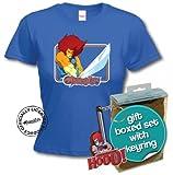 Thundercats T-Shirt and Keyring Giftset. Lion O (Ladies Small, Royal Blue)