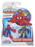 Playskool Marvel Super Hero Figure Spider-Man and Goblin (Pack of 2, Green)