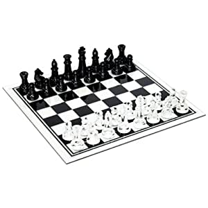 Black And Clear Glass Chess Set Toys Games