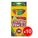 Crayola 24 Coloured Pencils x5