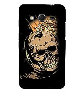 PrintVisa Modern Art Skull 3D Hard Polycarbonate Designer Back Case Cover for Samsung Galaxy Core Prime G360