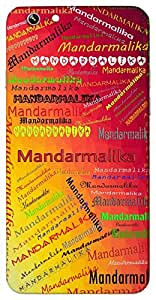 Mandarmalika (a garland of celestial) Name & Sign Printed All over customize & Personalized!! Protective back cover for your Smart Phone : Moto X-STYLE