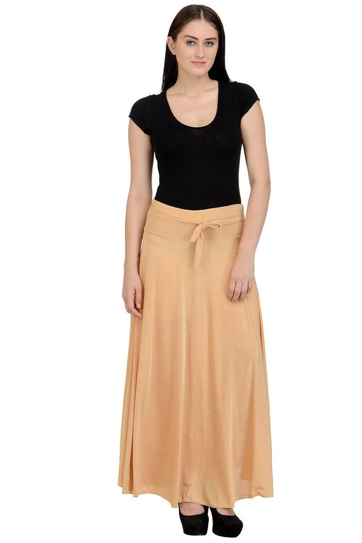 Deals on NumBrave Women's Beige Lycra Skirt