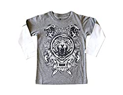 Anthill Boys' T-Shirt (AM109B_Grey_4 - 5 Years)