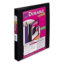 AVERY 17011 Durable View Binder with Slant Rings, 1\