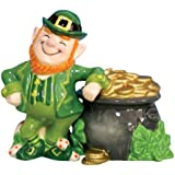 Westland Giftware Mwah Magnetic Leprechaun and Pot of Gold Salt and Pepper Shaker Set, 3-1/2-Inch