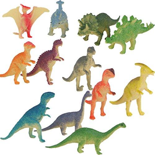 Lot-de-12pcs-Figurine-Dinosaure-en-Plastique-Modle-Animal-Jurassique-Jouet-Multi-couleur