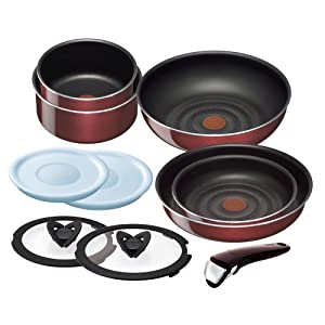 ティファール 鍋 フライパン セット 「インジニオ・ネオ」 取っ手の取れる ノーブルレッド セット10 L46790