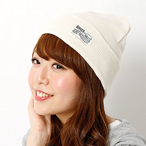 179/WG(179 WG) 【BURGER】ネーム付きハイゲージニット帽【オフ/FREE】
