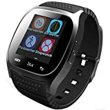 EFO-S SAFE M26 Smart Wirelss Bluetooth Watch Bracelet Camera Remote Control Anti-lost alarm Barometer Bluetooth Music Pedometer Altimeter Stop-watch Power Save Phonebook Dialer Sports Calls Messages Reminder Smartwatch for Men Man Andriod Samsung Galaxy S