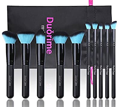 Best Cheap Deal for Style Master Makeup Brush Set Cosmetics Foundation Blending Blush Eyeliner Face Powder Brush Kabuki Blue Hair (10pcs Black) from Style Master - Free 2 Day Shipping Available