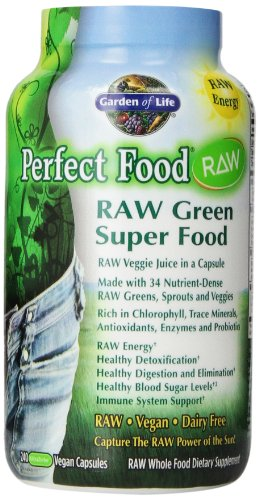 Garden of Life Perfect Food RAW, 240 Capsules