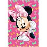Couverture Plaid polaire Minnie de Disney rose - 150 x 100 cm