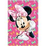 Minnie Mouse Fleece Blanket, Pink