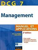 echange, troc Jean-Luc Charron, Sabine Sépari - DCG 7 - Management - 2e édition - Manuel et applications, corrigés inclus