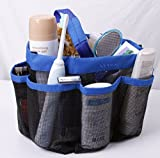 Attmu Shower Caddy - Oxford Pouch - Shower Bag - Bathrooms Bag - Mesh Storage Carry - Quick Dry - Large Pockets to Carry Your Bathroom Accessories & Mirror - Non Stainless Steel Full Mesh Material That Is Rustproof Even If You Throw It in a Corner