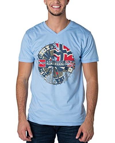 Geographical Norway Camiseta Manga Corta Snht Azul Claro