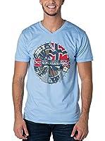Geographical Norway Camiseta Manga Corta Snht (Azul Claro)