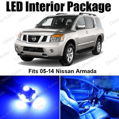 Classy Autos Nissan Armada Blue Interior Led Package (12 Pieces)